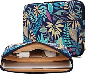 KAYOND Canvas Water-Resistant for 15.6-17 Inch Laptop Sleeve Case Bag (17 Inches, Forest Series Bule)