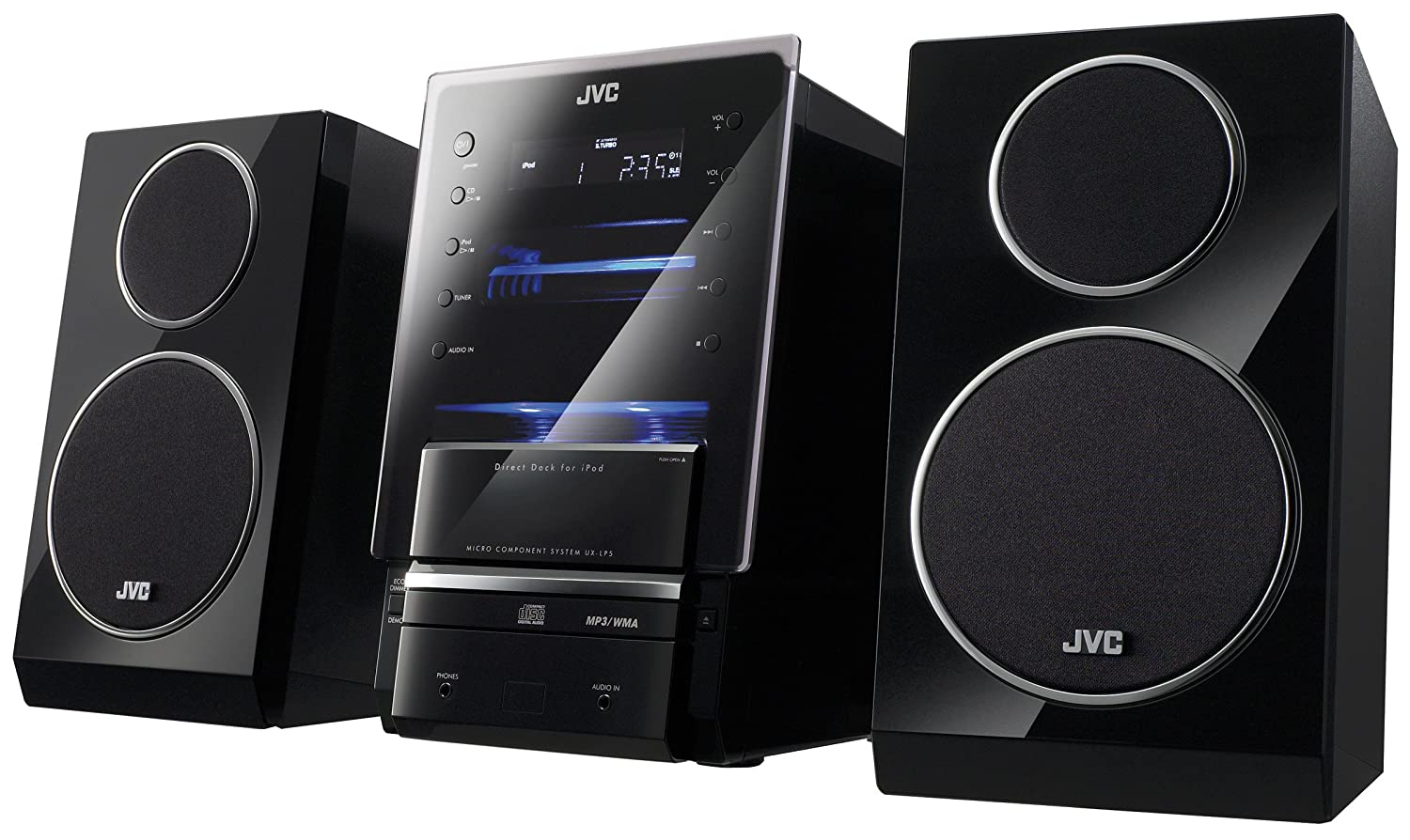 Amazon.com: JVC UX-LP5 CD Micro Component System (Discontinued by  Manufacturer): Home Audio & Theater