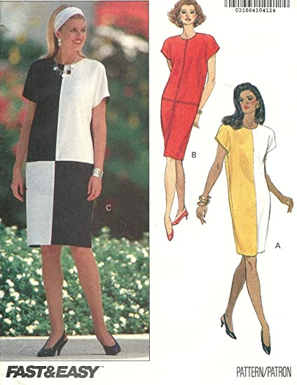 Amazon.com: Butterick vintage sewing pattern 5434 David Warren dress ...