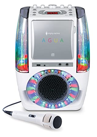 singing machine sml605w agua dancing water fountain bluetooth singing machine sml605w agua dancing water fountain bluetooth karaoke system led disco lights wired