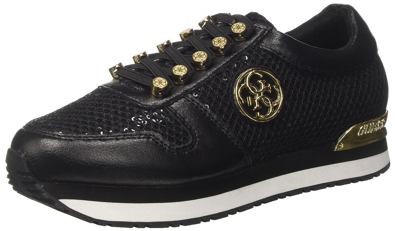 Guess Flrom3lea12, Zapatillas para Mujer 38 EU|Negro (Nero)
