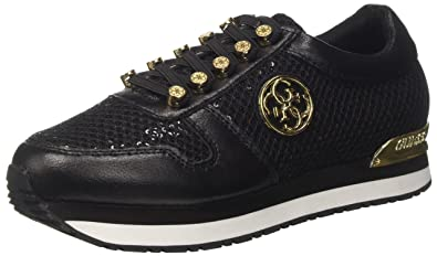 Guess Damen Roman Sneakers, Schwarz (Nero), 35 EU