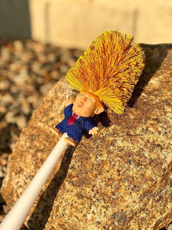 Bacodaa 2PCS Donald Trump Toilet Brush,Original Trump Toilet Brush,Make Toilet Great Again,Commander in Crap Yellow