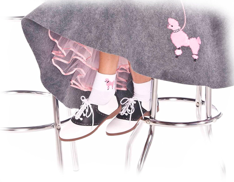 Hip Hop 50s Shop Womens Bobby Sock W/Poodle Applique