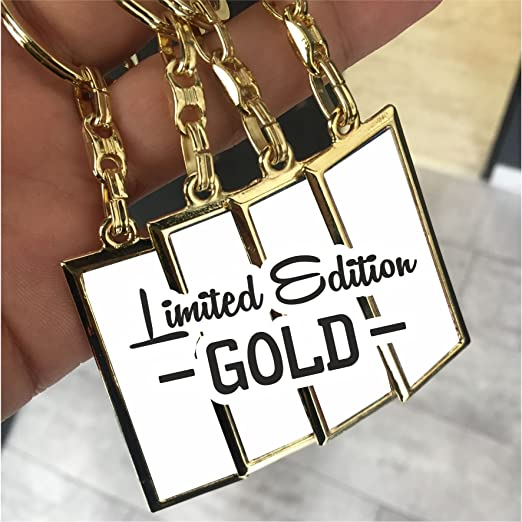 Limited Edition I Oro I Mini Matrícula/llavero de alta ...