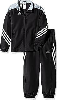 Adidas Boys Tracksuit Woven Sereno14 Boys Presentation Football Training Suit Black/Silver/White 7-15 Years