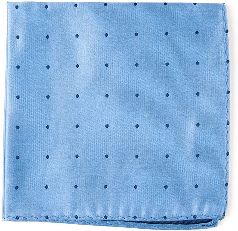 The Tie Bar Satin Dot 100/% Woven Silk Pocket Square
