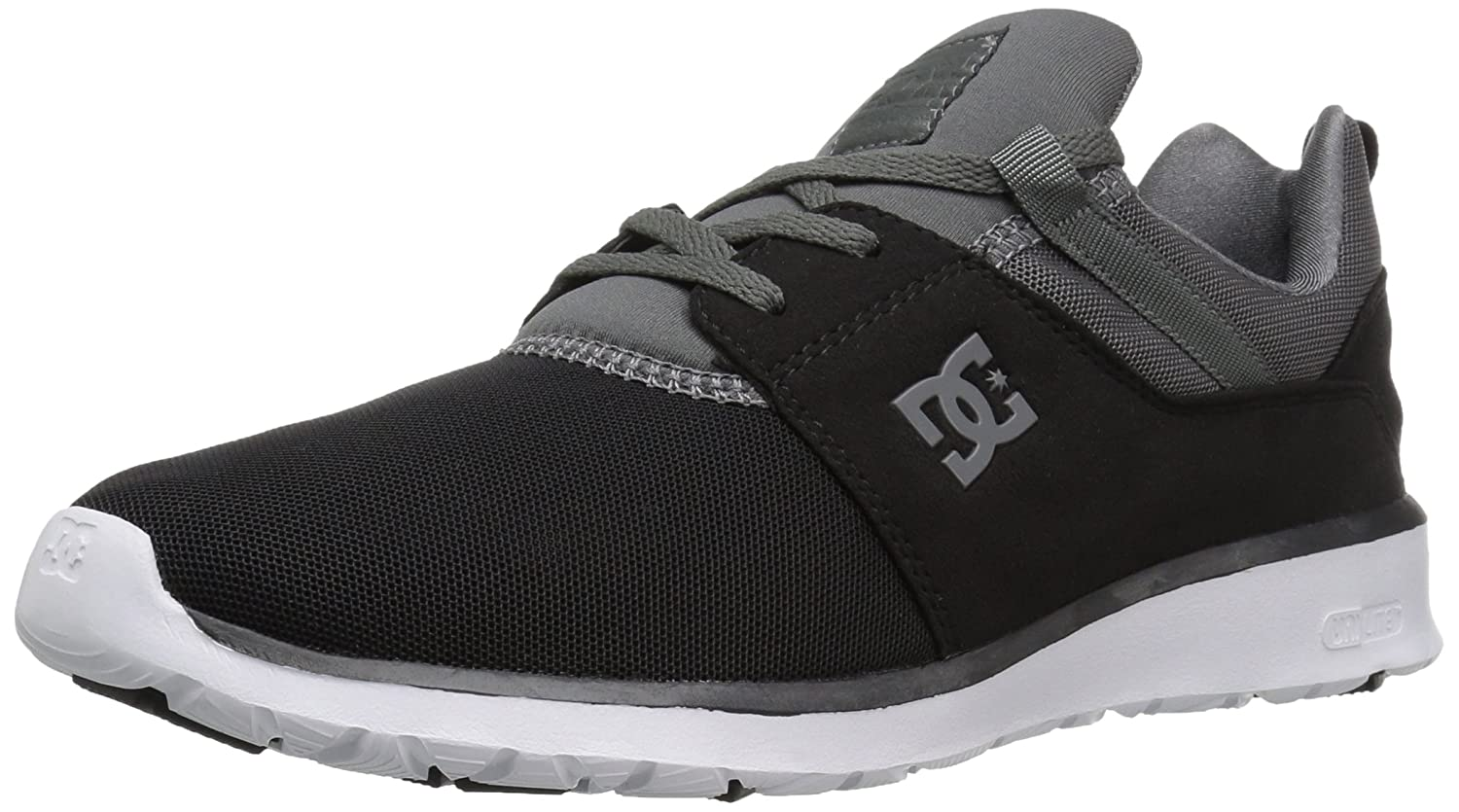 DC Men's Heathrow Casual Skate Shoe B01HC3RAIW 4 D(M) US|Black/Dark Grey