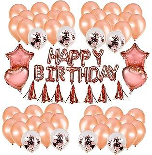 Happy Birthday Lettere Palloncino Palloncini Decoratifs HorBous Palloncini Decoration Compleanno Fete Soiree Lettere Palloncini per i fourtnitures Violet 100/PSC Palloncini