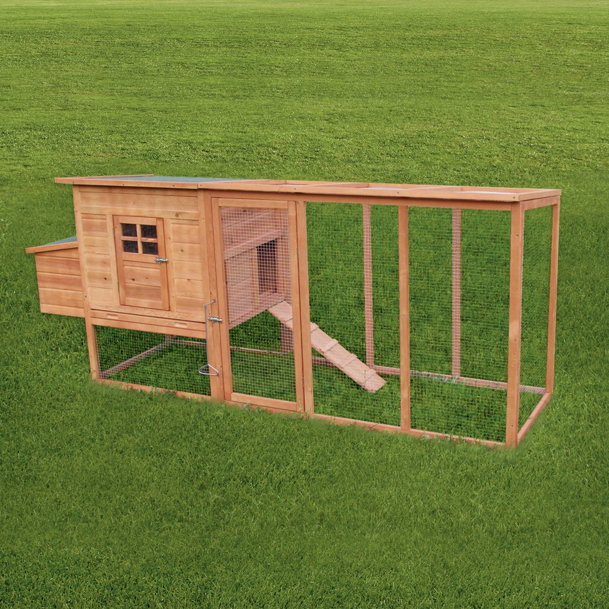 KCT Barcelona Deluxe 8ft EXTRA LARGE Chicken Coop with Run Pisces