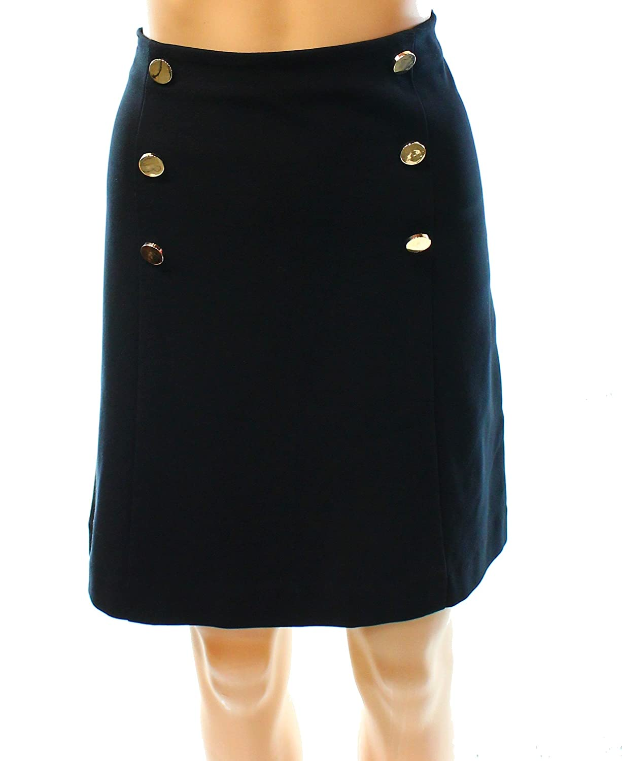7a2517cd10 Amazon.com: Inc International Concepts Women's A-Line Sailor Skirt (12,  Deep Black): Clothing
