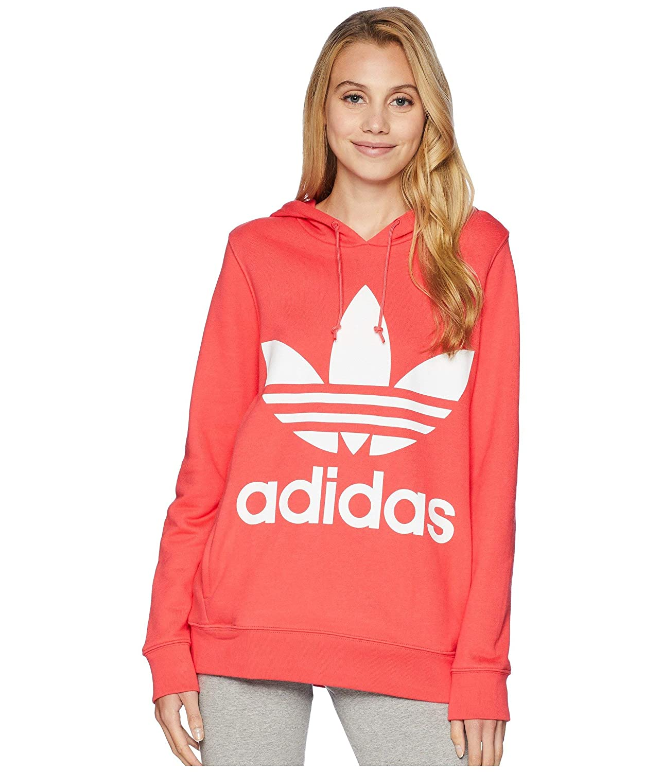 e81ff220 adidas Originals Women's Trefoil Hoodie, Core Pink, Medium