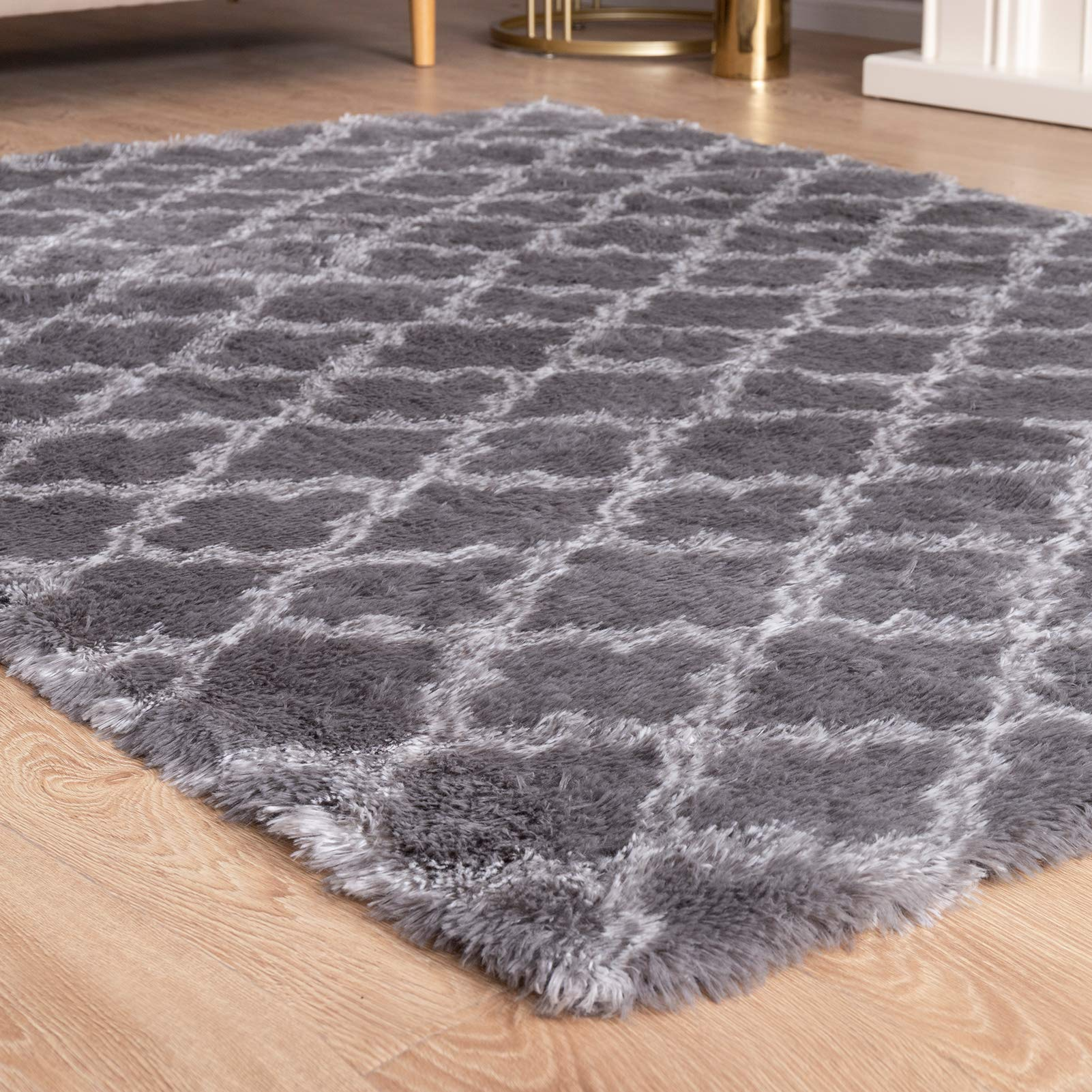 Carvapet Super Soft Moroccan Area Rugs for Bedroom Living Room Shaggy Modern