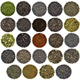 24-Variety Super Deluxe Loose Leaf Tea Sampler Gift Set w/ Green, Black, Oolong, White, Herbal, Pu'er and Flavored Gourmet Teas