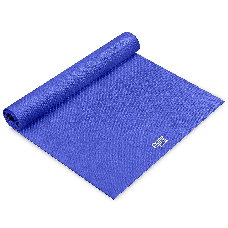 Pure Fitness antideslizante ejercicio yoga mat con correa de ...