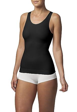 c860495ee2a18 SLEEX Figurformendes Damen Unterhemd (mit hoeherem Ruecken) (44042) -  Shapewear Top