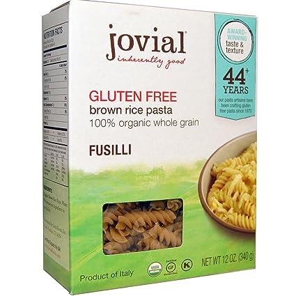 Jovial, café Arroz Pasta Fusilli, sin gluten, 12 oz), pack ...