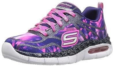 Skechers Kids Girls' Air Appeal Glitztastic Sneaker, Navy