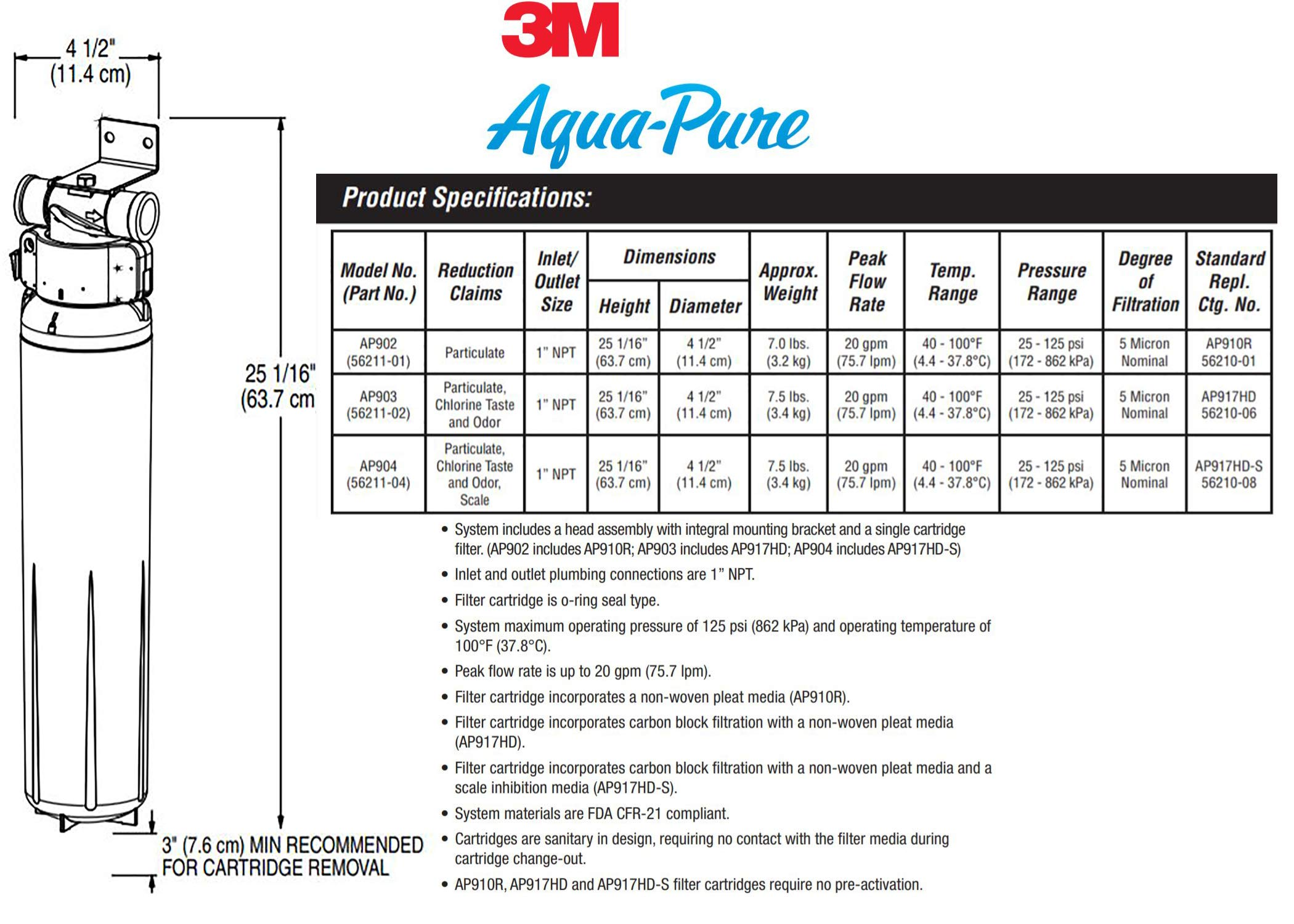 3M Aqua-Pure Whole House Replacement Water Filter - Model AP910R by 3M Aqua-Pure