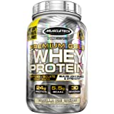 MuscleTech Premium Gold 100% Whey Protein, Premium Whey Protein Powder, Instantized and Ultra Clean 100% Whey Protein, Vanilla Ice Cream, 35.2 Ounce