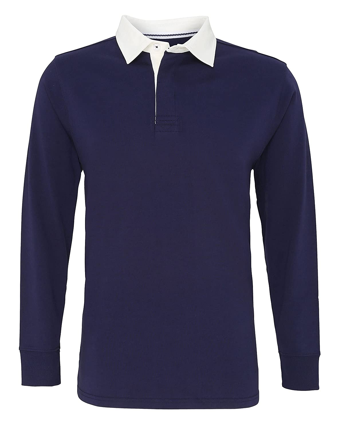 Asquith Fox Men's Classic Fit Long Sleeve Vintage Rugby Shirt AQ040
