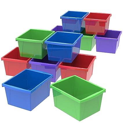 Storex Classroom Storage Bin, 5.5 Gallon (21 Liter) Color Plastic Storage  Containers,