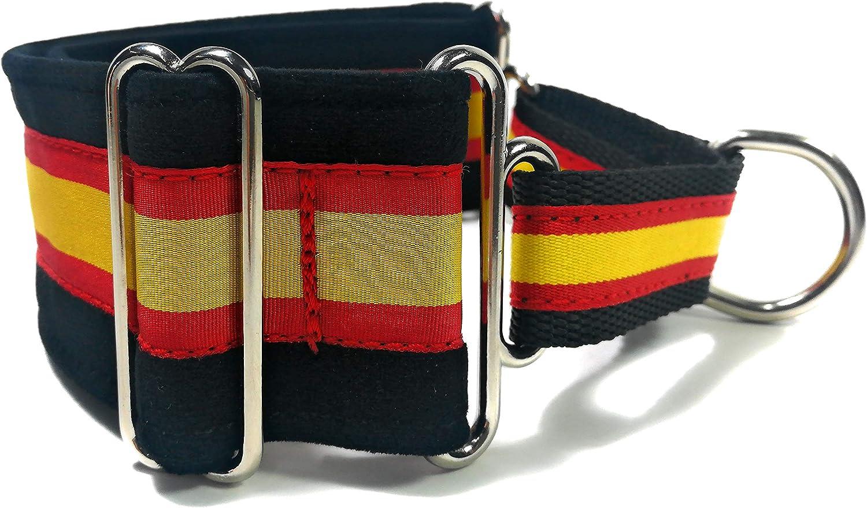 Collar Martingale bandera de España talla S . Ancho 4 cm diámetro 30-40 cm: Amazon.es: Productos para mascotas