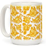 Floral Penis Yellow 15 OZ Coffee Mug by LookHUMAN