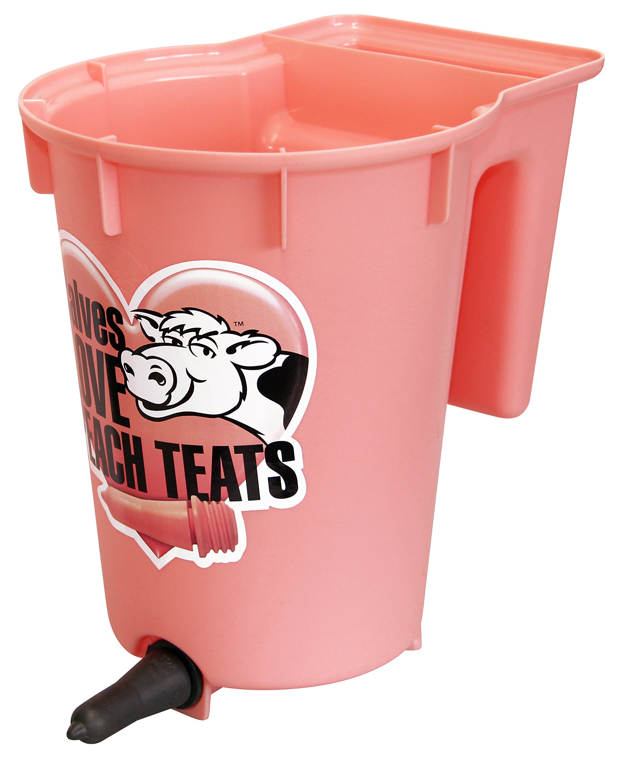 Peach Teats Single Feeder Bucket, Pink