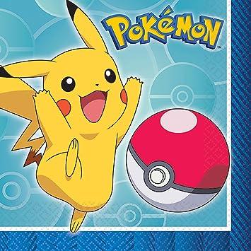 Pokemon Beverage Napkins [16 Per Pack]: Amazon.es: Juguetes y juegos