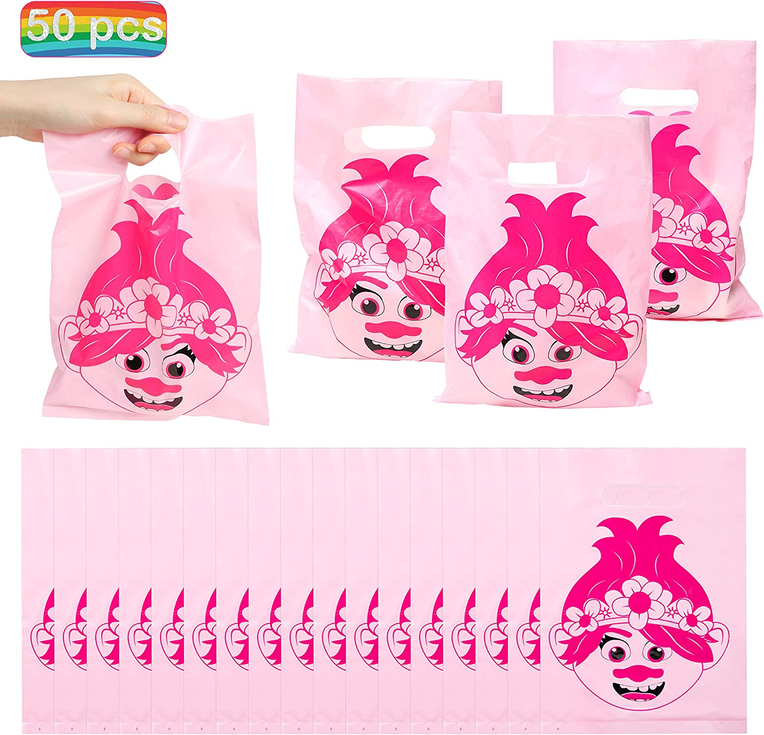 30 PCS TROLLS GOODIE BAGS PARTY FAVORS CANDY LOOT TREAT BIRTHDAY BAG DREAMWORKS