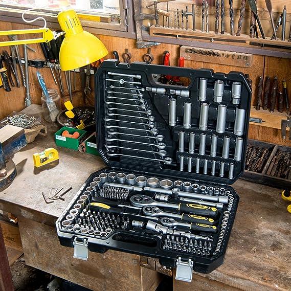 Bohell SH215 - Maletín con juego de llaves de vaso y otras herramientas, 215 piezas: Amazon.es: Bricolaje y herramientas