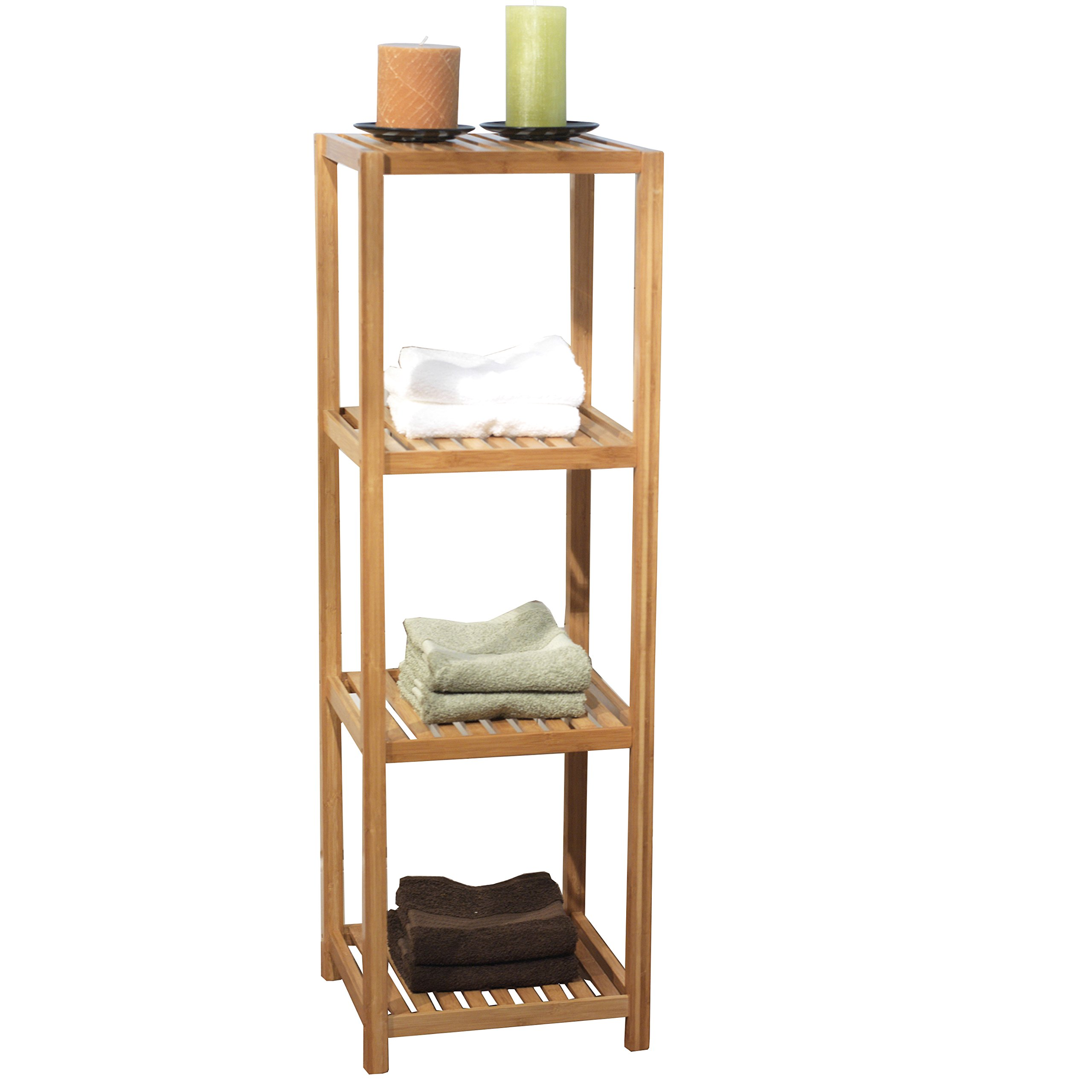 Target Marketing Systems 23034NAT Bamboo 4 Tier Bathroom Shelf, Bamboo