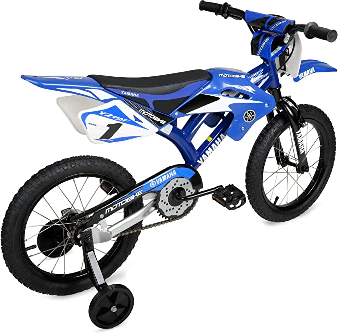 16 pulgadas dise/ño de moto unisex para ni/ños con guardabarros y freno en V BSTQC Bicicleta para ni/ños