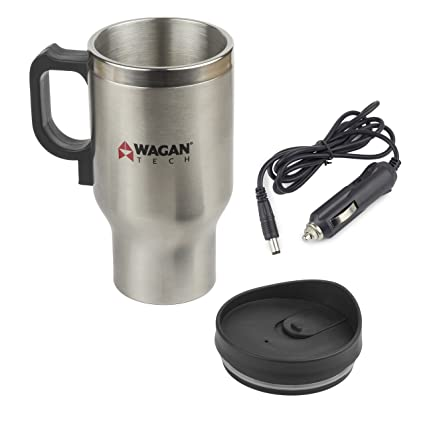 Vehicle Electronics & Gps 12 Volt Heated 16 Oz Travel Mug For Car Automobile Travel Cup Insulated