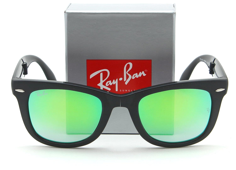 1b70f5de7322b Amazon.com  Ray-Ban RB4105 Wayfarer Folding Flash Sunglasses Matte Black  60694J - 50mm  Clothing