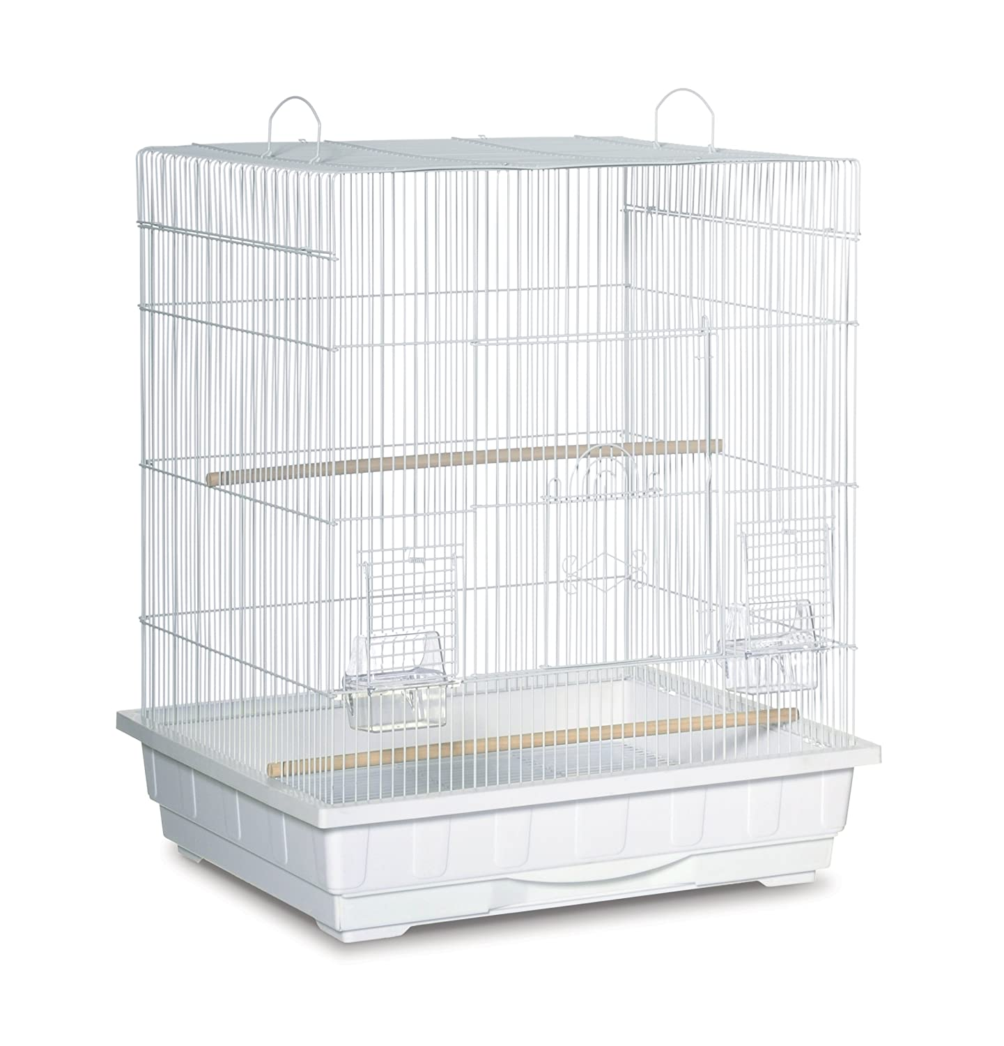Square Top Parakeet Cage White Prevue Pet Products Inc. SP25212W/W