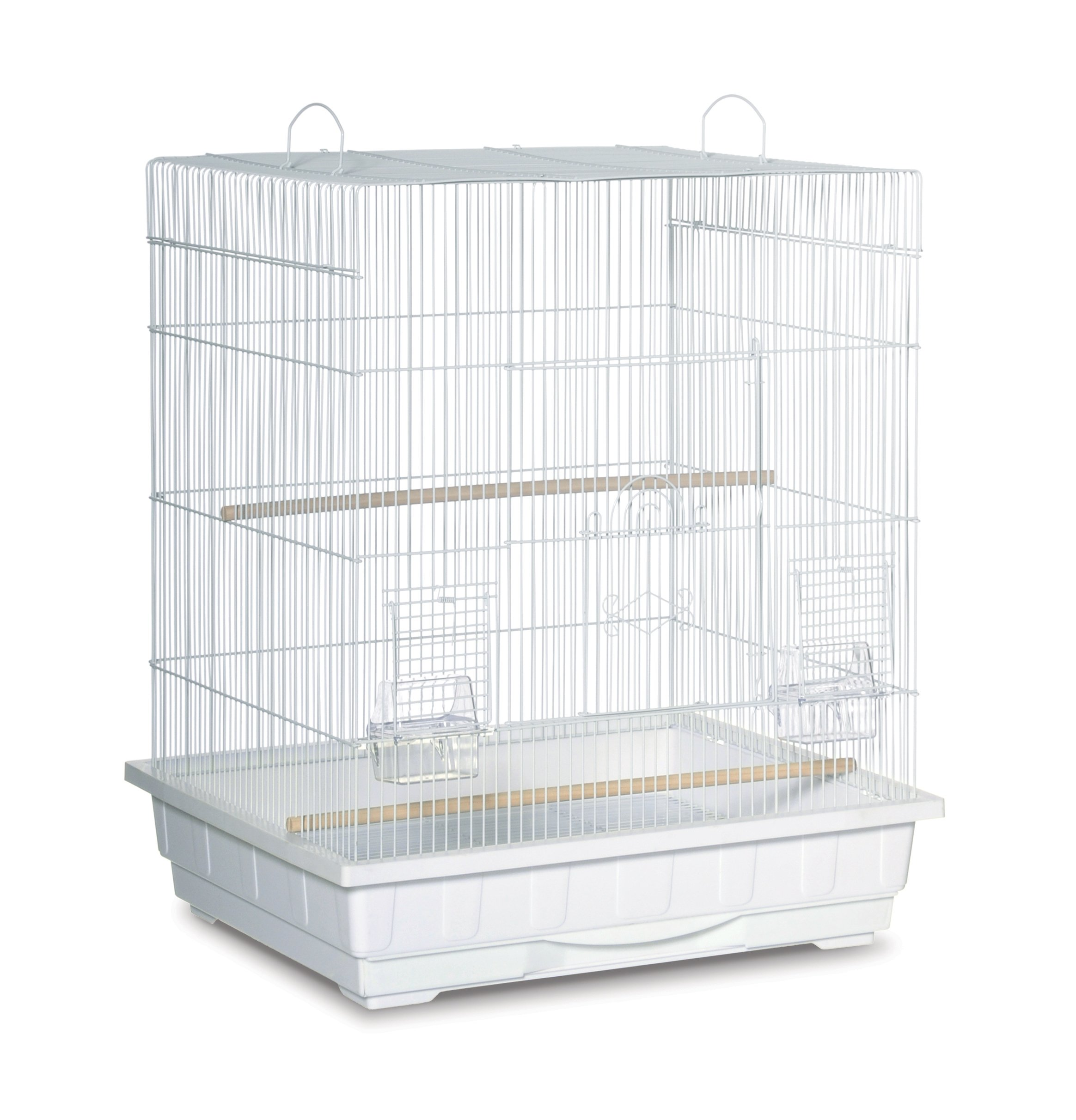 Prevue Pet Products Square Top Parakeet Cage, White