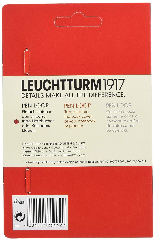 Leuchtturm1917 339275 - Pen loop lazo para bolígrafo, color rojo