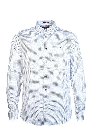 34e7658bd263 Ted Baker Men Casual Shirt TH8M GA11 SKWERE Size 4 White  Amazon.co ...