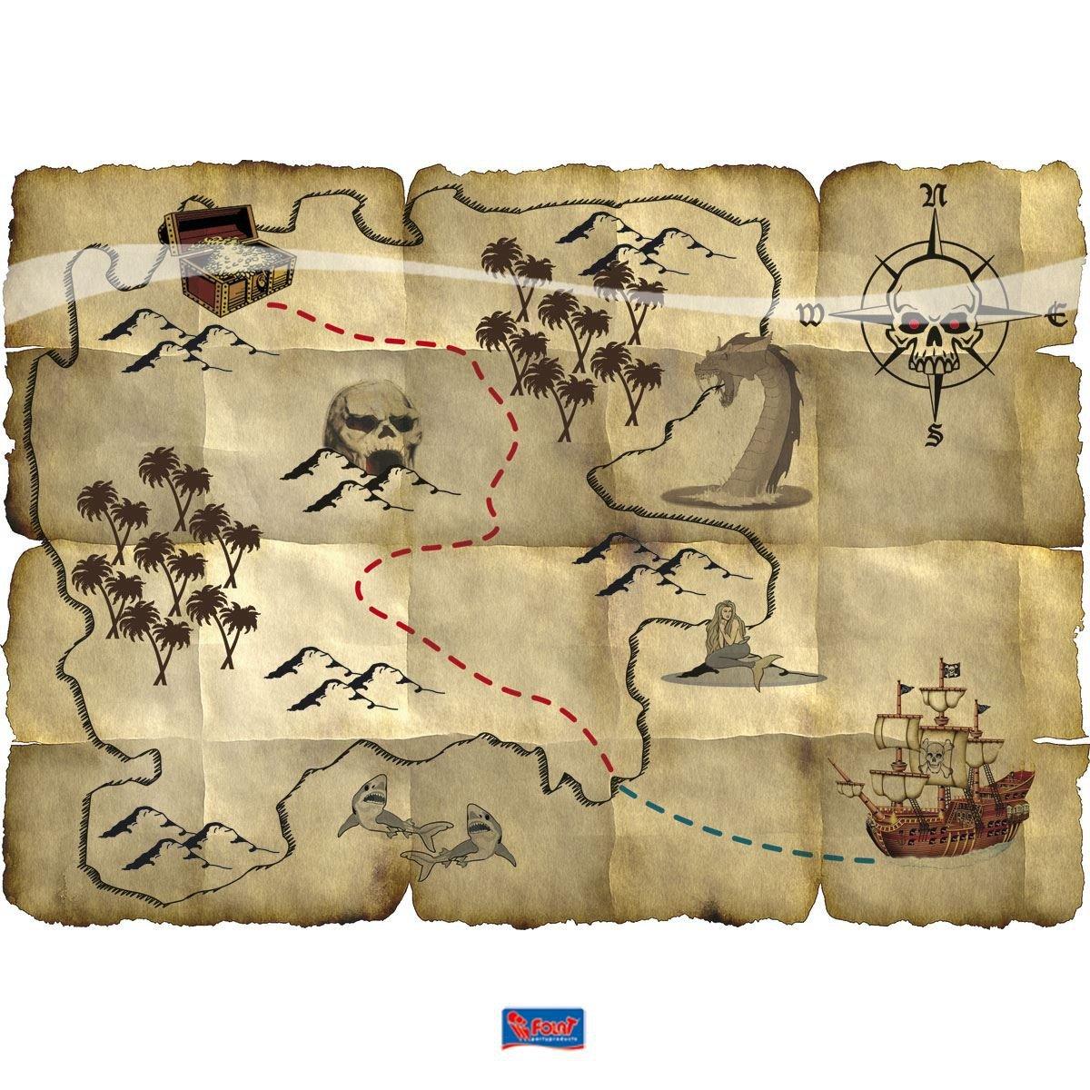 Folat Piratas del Tesoro Tarjetas Decoración: Amazon.es: Juguetes ...