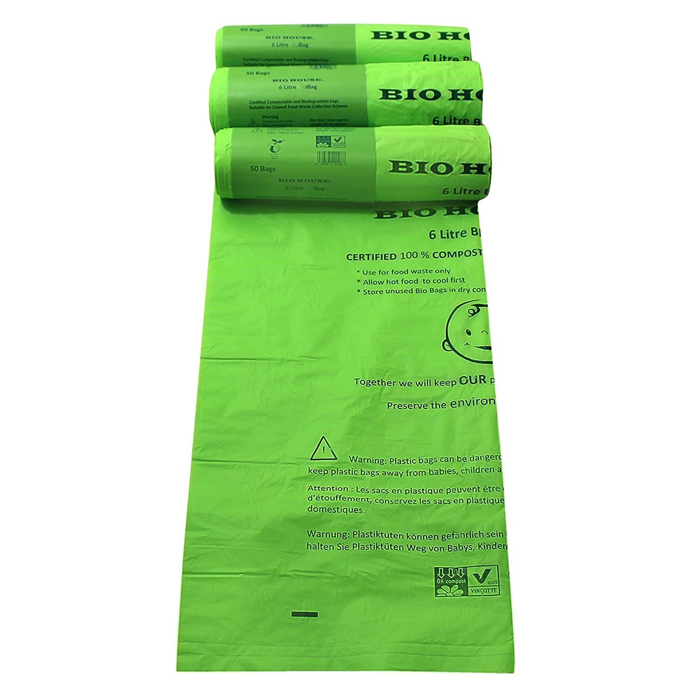 Bio casa - 6 litros, de basura compostables Biodegradable cocina ...