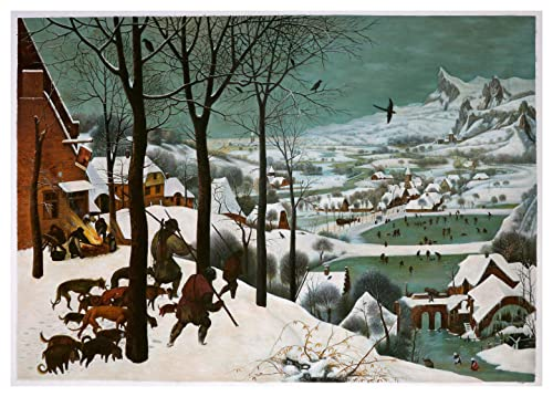 Amazon Com Hunters In The Snow Winter Pieter Brueghel The Elder Hand Painted Oil Painting Reproduction The Return Of Hunters Flat Bottomed Valley Handmade
