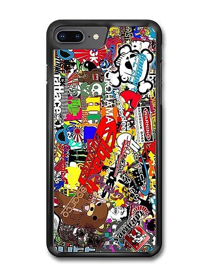 Stickerbomb Graffiti Art Cartoon Skull Meme Warning Sticker Bomb case for iPhone 8 Plus