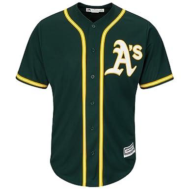 a6a6fa78 Amazon.com: Majestic Authentic Cool Base Jersey - Oakland Athletics:  Clothing