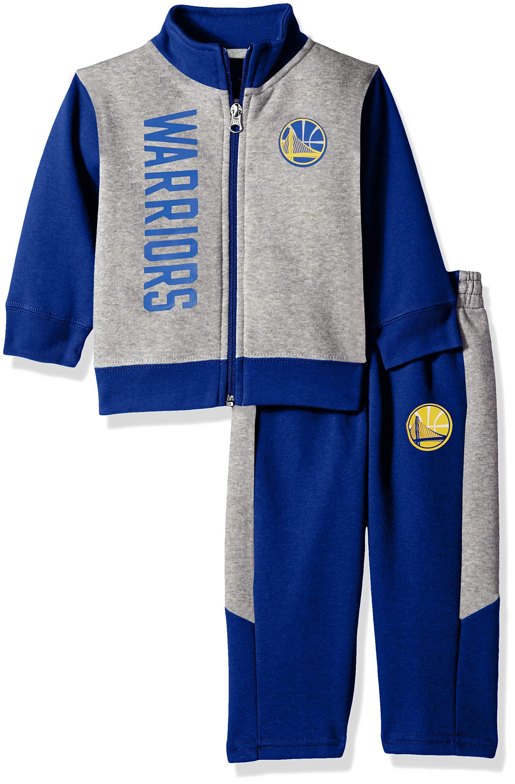 Outerstuff NBA NBA Infant Golden State Warriors On The Line Jacket & Pants Fleece Set, Blue, 18 Months by Outerstuff