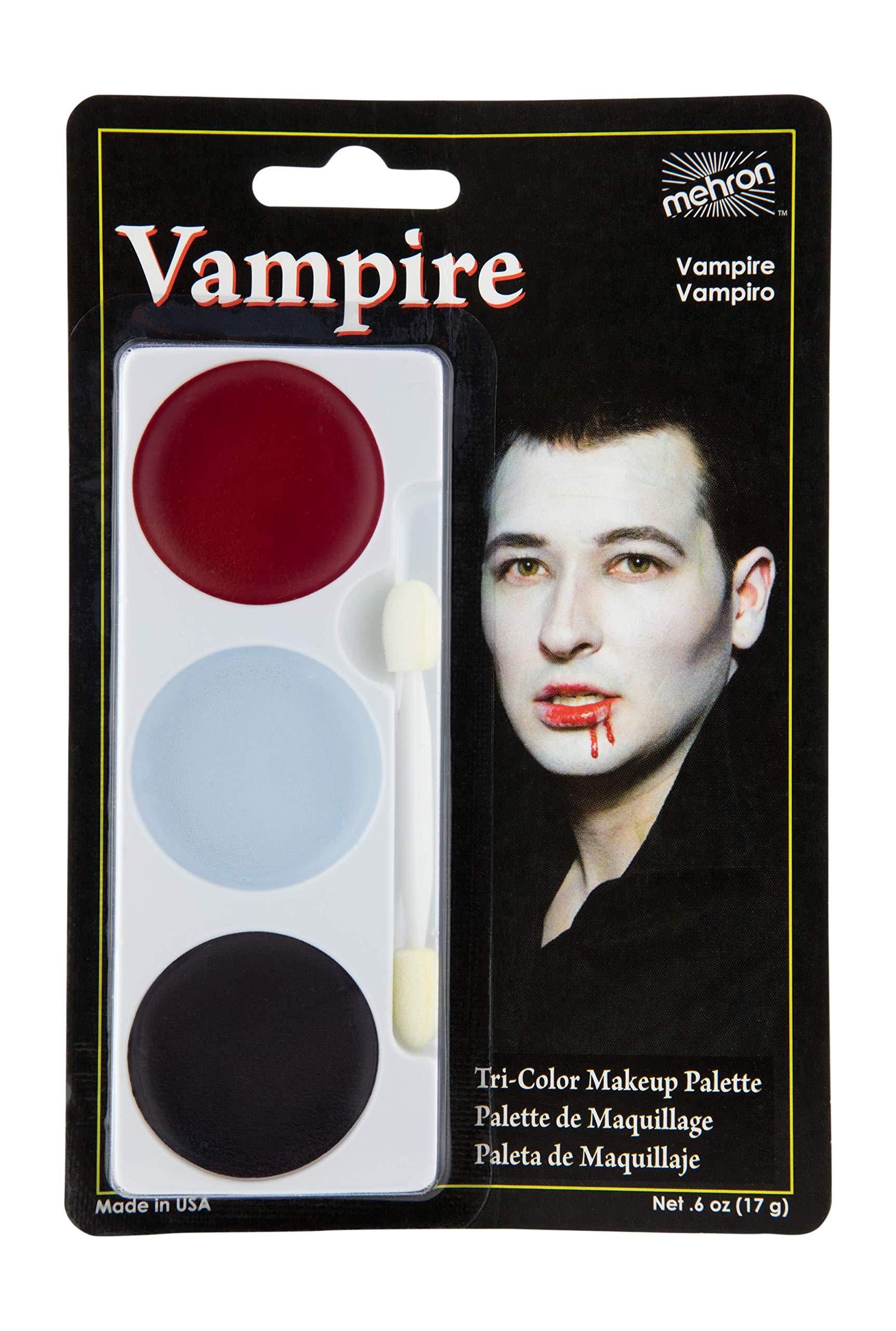 Mehron Makeup Tri-Color Halloween Makeup Palette (VAMPIRE)