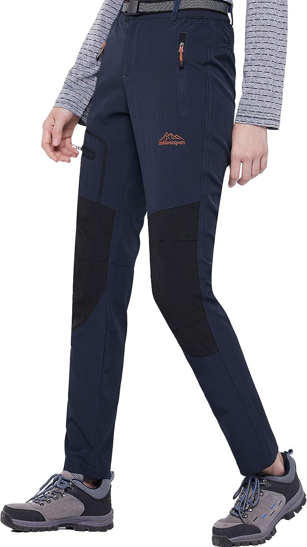 DENGBOSN Pantalon Randonnee Femme Outdoor Trekking S/échage Rapide Respirant Imperm/éable Pantalon de Montagne Escalade Ski