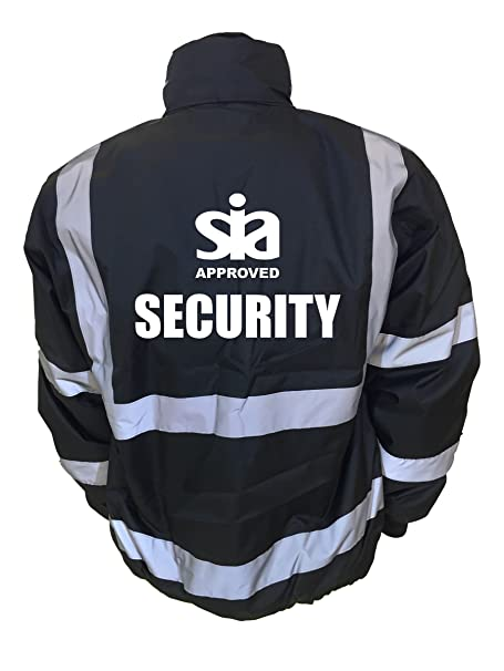 SECURITY SIA Hi-Vis High-Viz Visibility Safety Vest Waistcoat S-4XL Bar Club