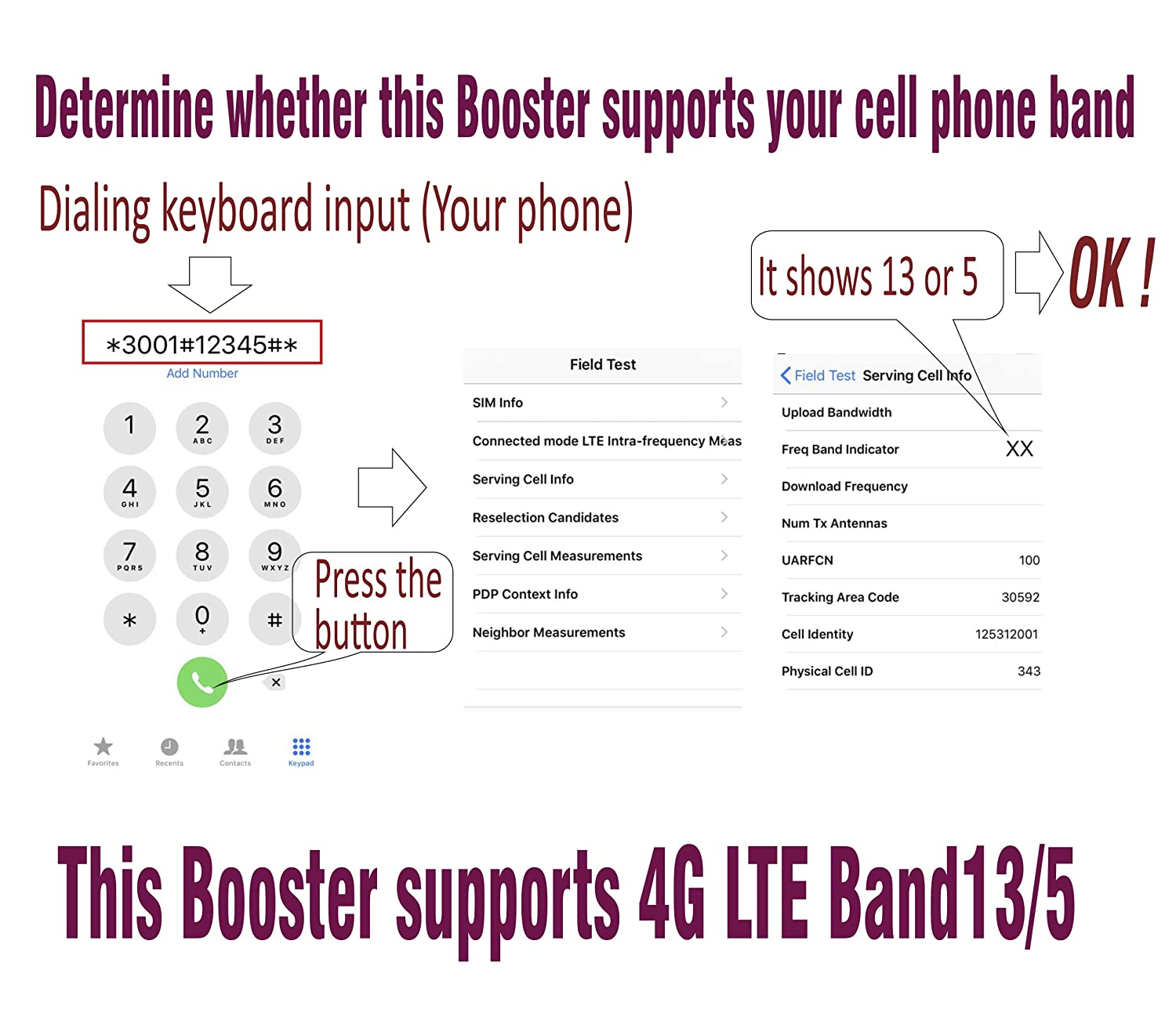 Roomboost AT/&T T-Mobile Cell Phone Signal Booster for Home and Office 4G LTE Band12//17 Mobile Phone Signal Amplifier Including RG58 Cable 700MHz Repeater Full Kit